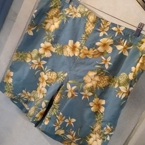 Tommy Bahama Swim Trunks Floral Pineapples…